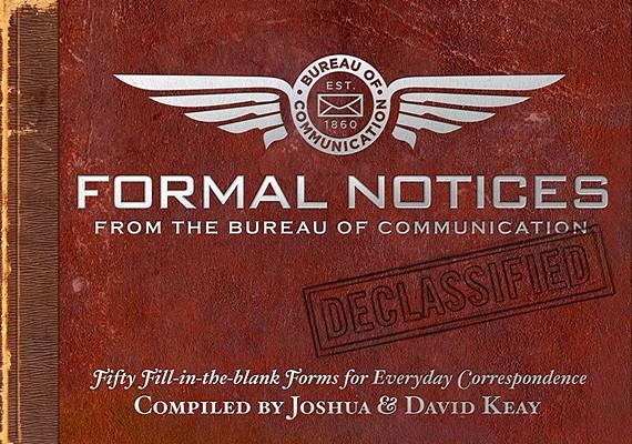 Formal Notices By Keay, Joshua/ Keay, David